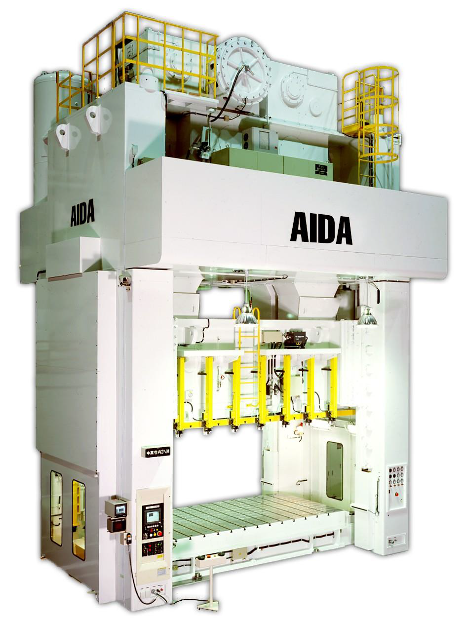 1 – NEW 1,635 TON AIDA FOUR POINT CRANK MOTION STRAIGHT SIDE SERVO TRANSFER PRESS