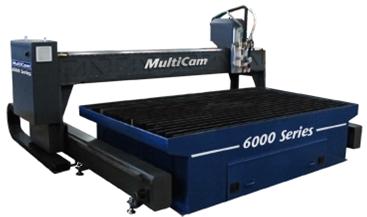 1 – USED 10' X 12' (32)' MULTICAM 6000 SERIES CNC PLASMA