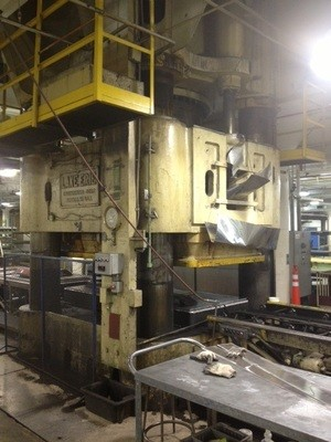 1 – USED 5,000 TON LAKE ERIE DOWN ACTING HYDRAULIC PRESS