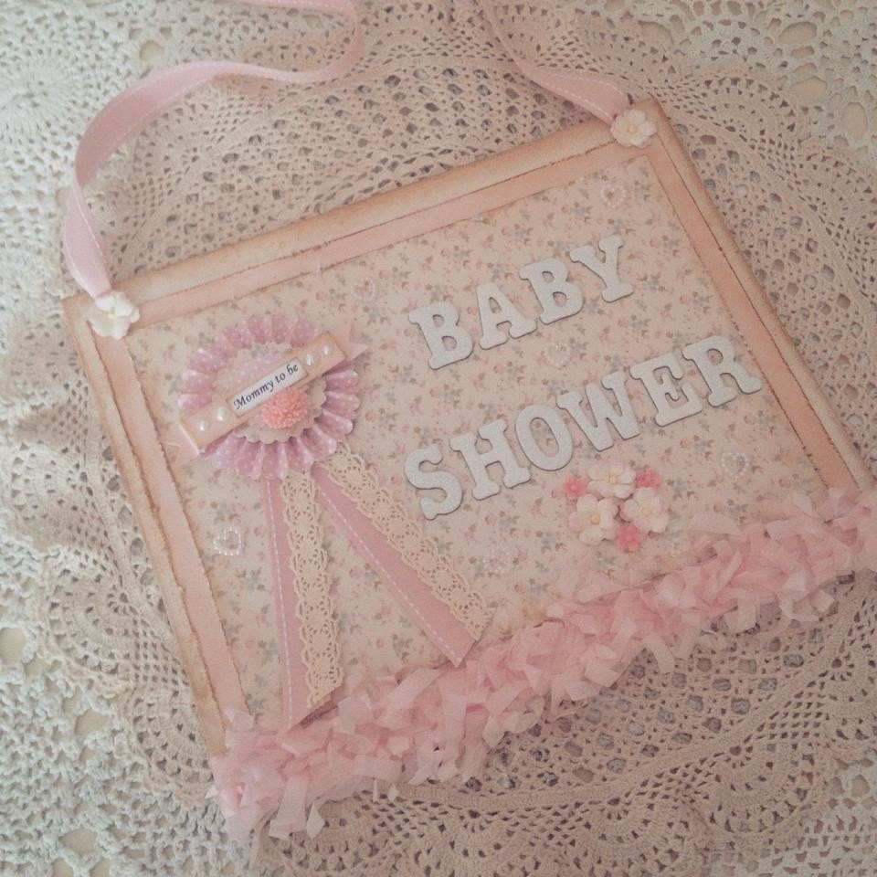 Pretty in Pink Baby Shower Sign