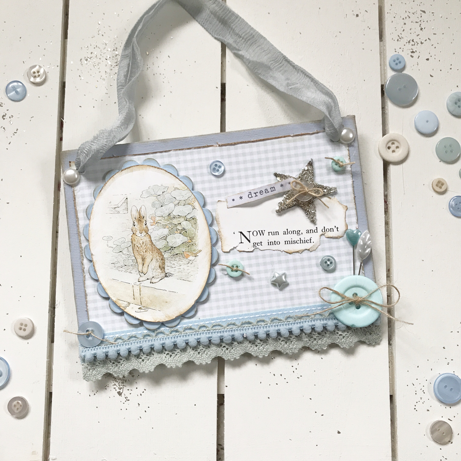 Beatrix Potter Collection ~ Peter Rabbit Small Hanging Sign