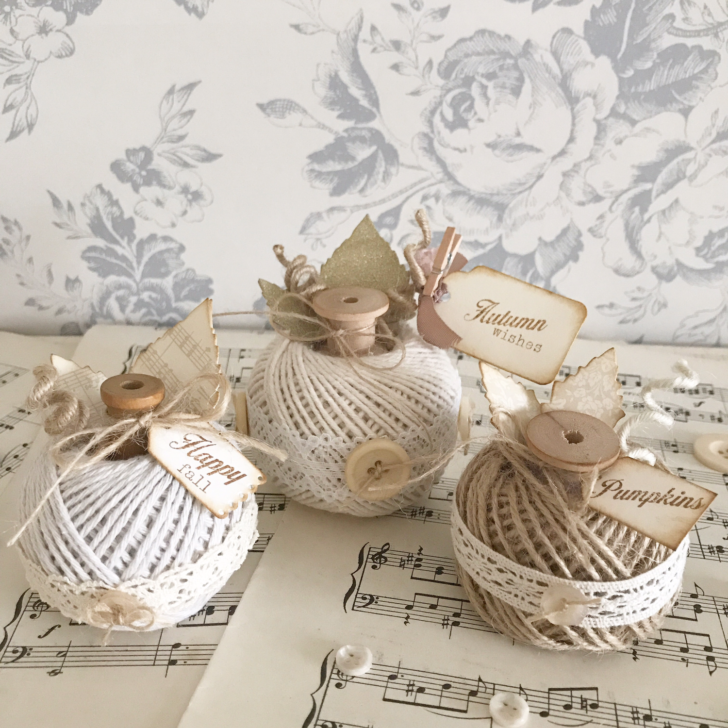 Autumn Collection ~ Rustic Twine Pumpkins