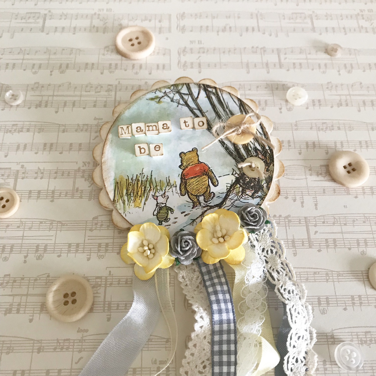 Pooh Bear Collection ~ Rosette Badge
