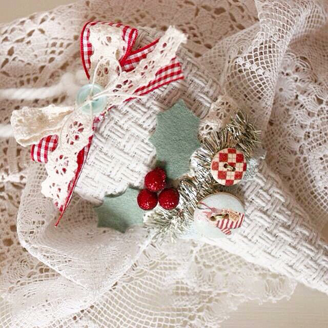 Christmas Fabric Heart Decorations