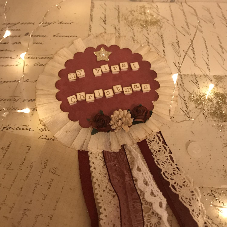 Christmas Rosette Badge