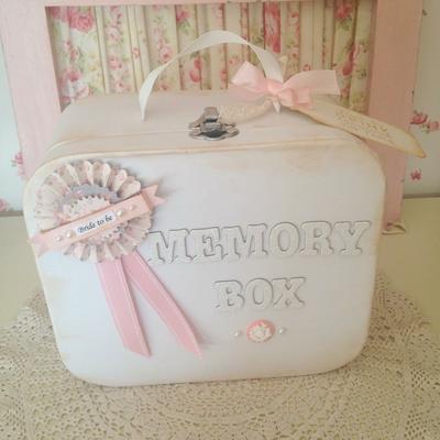 Hen Party Vintage Suitcase Memory Box