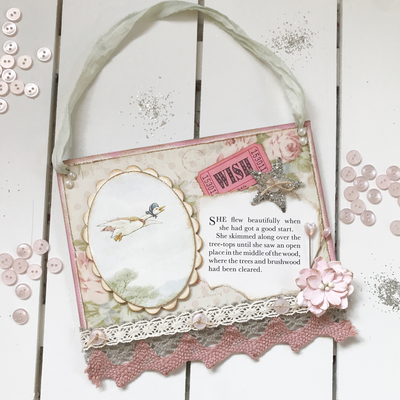 Beatrix Potter Collection ~ Small hanging sign