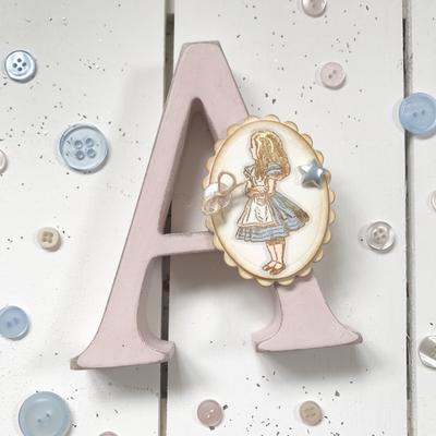 Alice in Wonderland ~ Wooden Letter