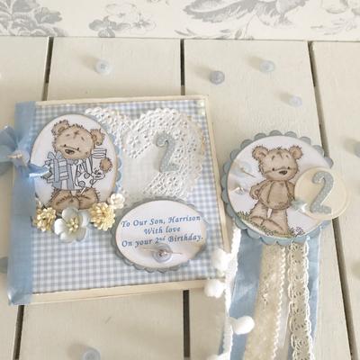 Teddy Bear Rosette Badge