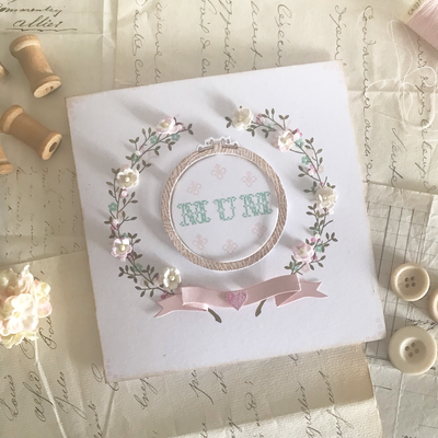 Stitched sentiments ~ Mother's Day Card