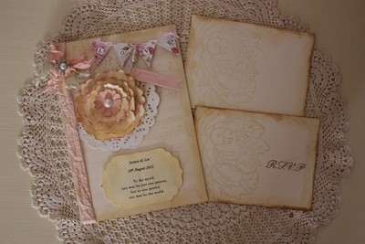 Couture Collection ~ Pretty Peony Wedding Invitations