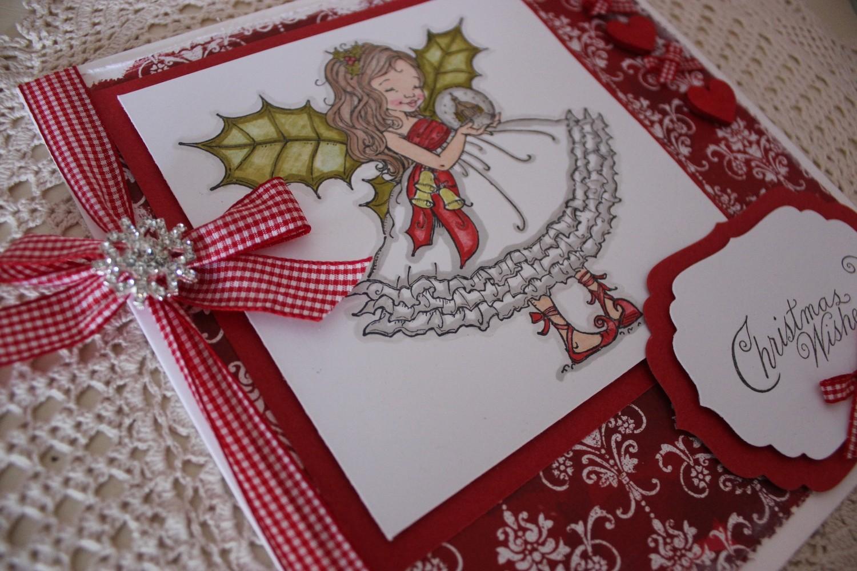 Christmas Fairy With Snowglobe Christmas Card