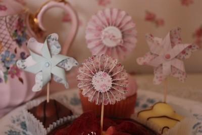 Mini Cupcake Rosettes - pack of 5