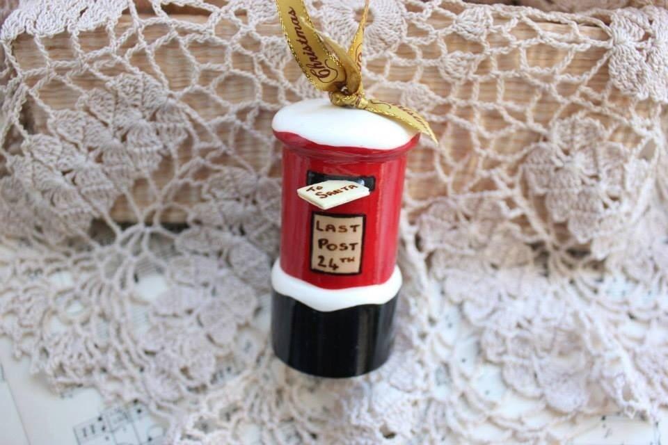 Snowy Postbox Christmas Decoration
