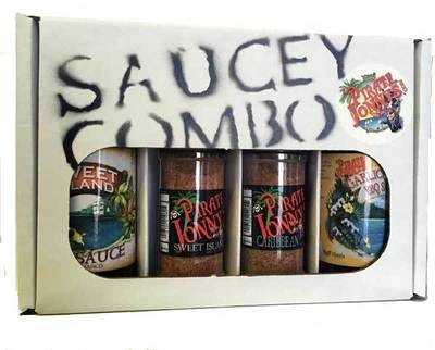 FATHERS DAY SPECIAL Pirate Jonny's Two-Sauce-Two-Large Rub Combo Pak