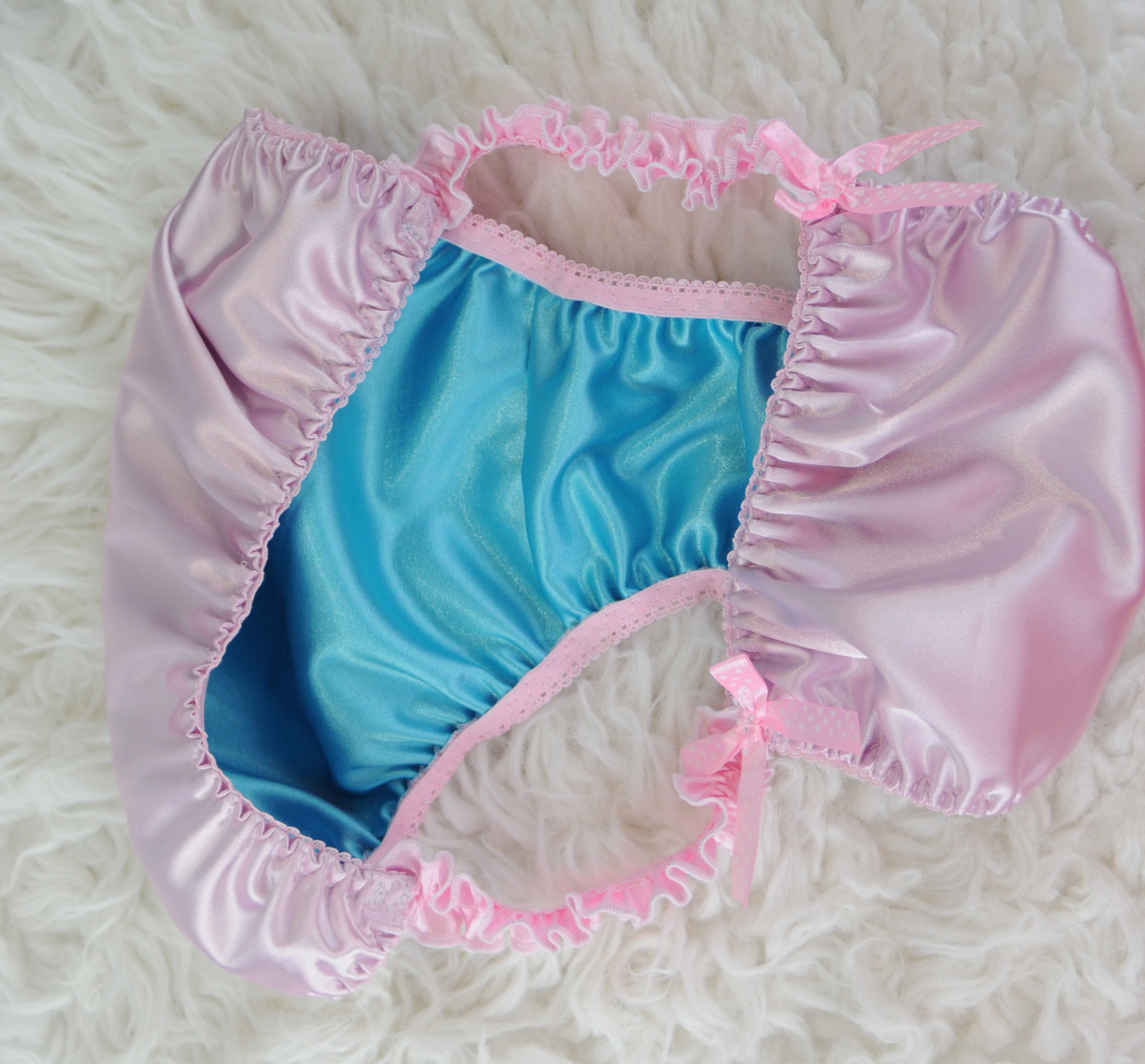 Exclusive Ania's Poison MANties Silky Smooth, Butter Soft Double Lined Pink Blue Limited Edition bikini panties like Joe the Boxer for Sissy MEN!