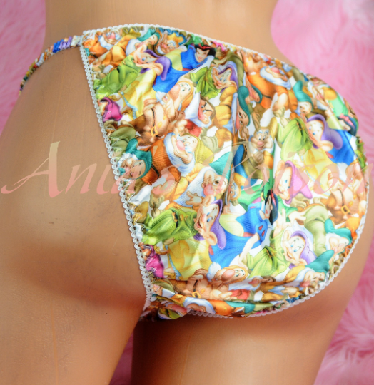 Ania's Poison Dwarves Snow Princess Prints Super Rare 100% polyester string bikini sissy mens underwear panties