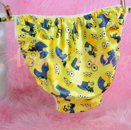Ania's Poison Minion 3 different Prints Super Rare 100% polyester string bikini sissy mens underwear panties