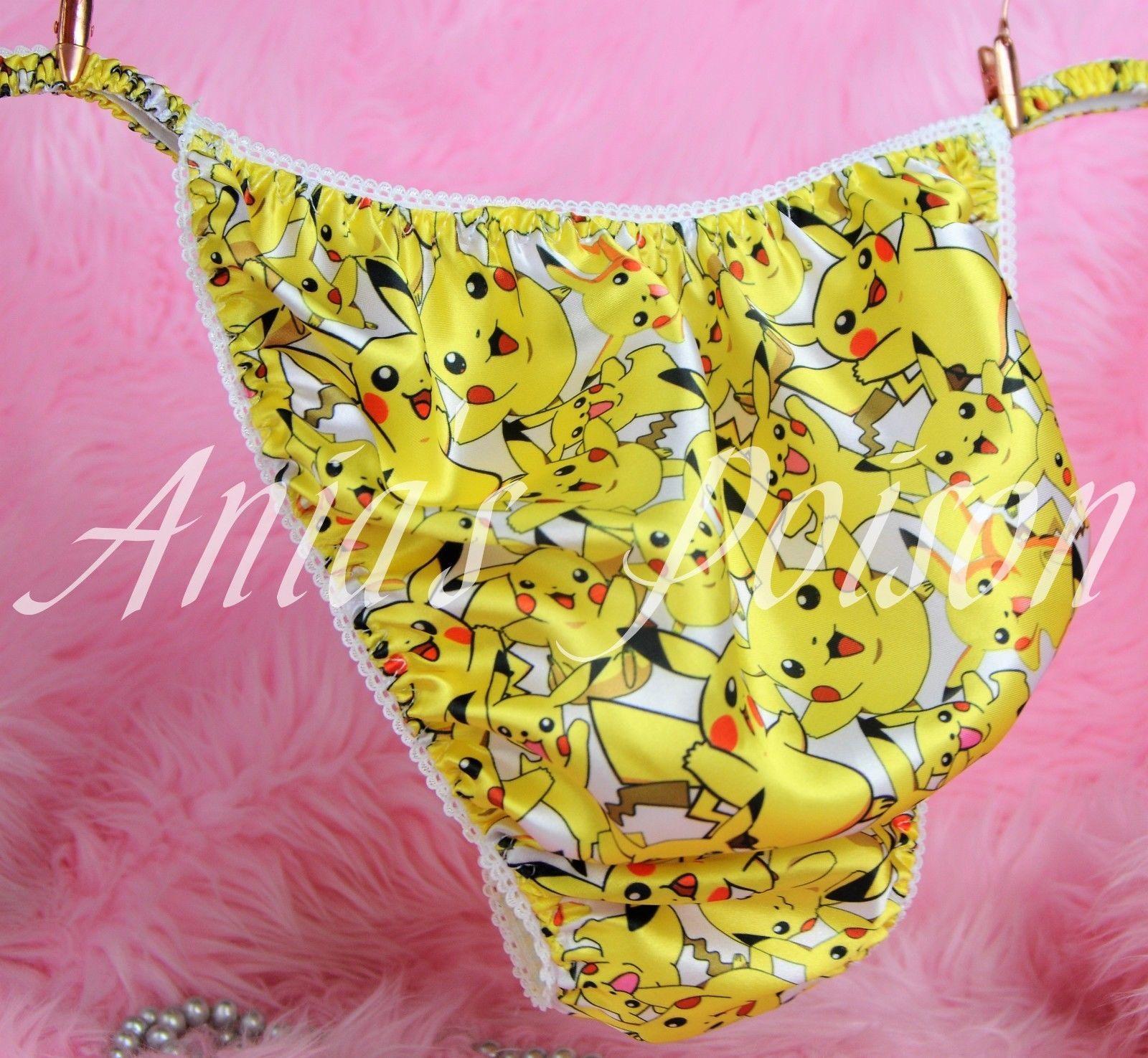 Ania's Poison MANties Pokemon Pikachu Character Print Super Rare 100% polyester string bikini sissy mens underwear panties 00242