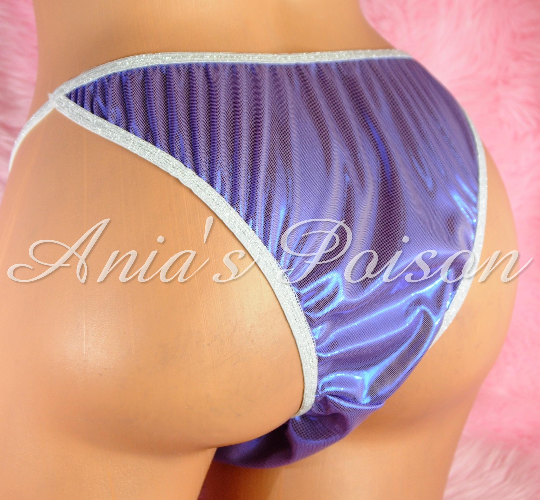 NEW COLORS!  S - XXL metallic shiny FOIL MANties Brazilian Cheeky cut string bikini sissy mens Sissy underwear panties 0022