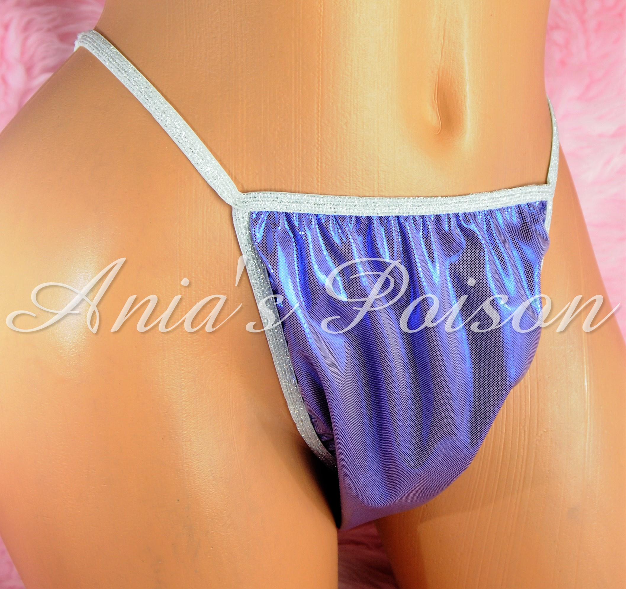 NEW COLORS!  S - XXL metallic shiny FOIL MANties Brazilian Cheeky cut string bikini sissy mens Sissy underwear panties