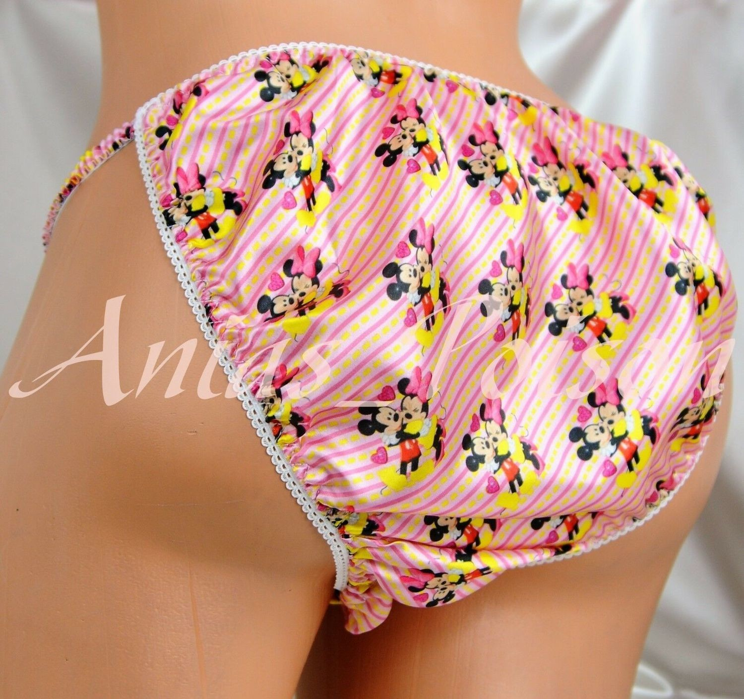 Adorable Little Princess Mouse cartoon Rare 100% polyester string bikini sissy mens underwear panties