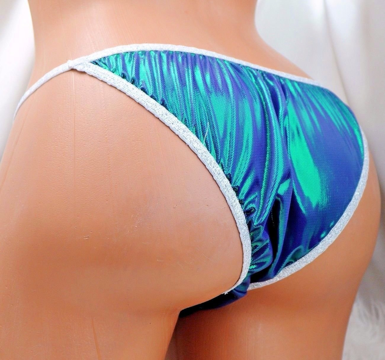 NEW COLORS!  S - XXL metallic shiny FOIL MANties Brazilian Cheeky cut string bikini sissy mens Sissy underwear panties
