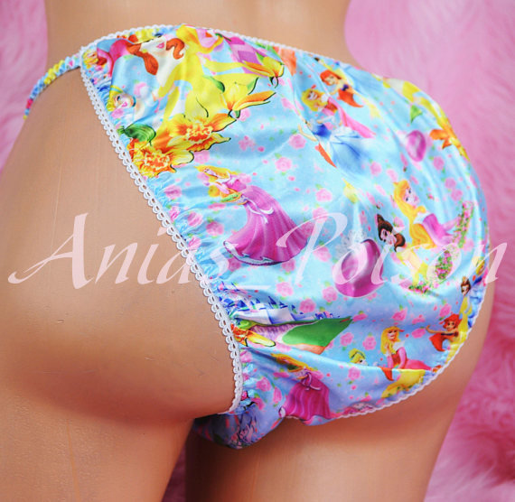 Ania's Poison MANties S - XXL Princess Prints Super Rare 100% polyester string bikini sissy mens underwear panties