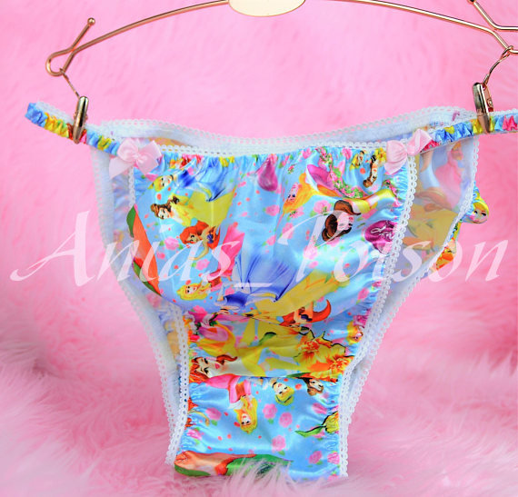 Ania's Poison MANties S - XXL Princess Prints Super Rare 100% polyester string bikini sissy mens underwear panties 00148