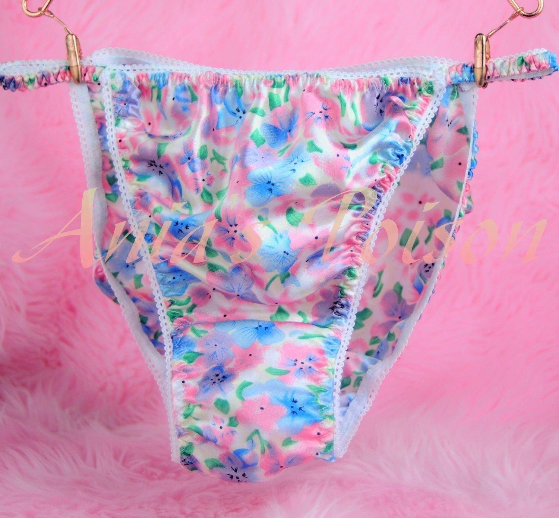 Ania's Poison MANties S - XXL Floral pastel Spring Prints Rare 100% polyester string bikini sissy mens underwear panties