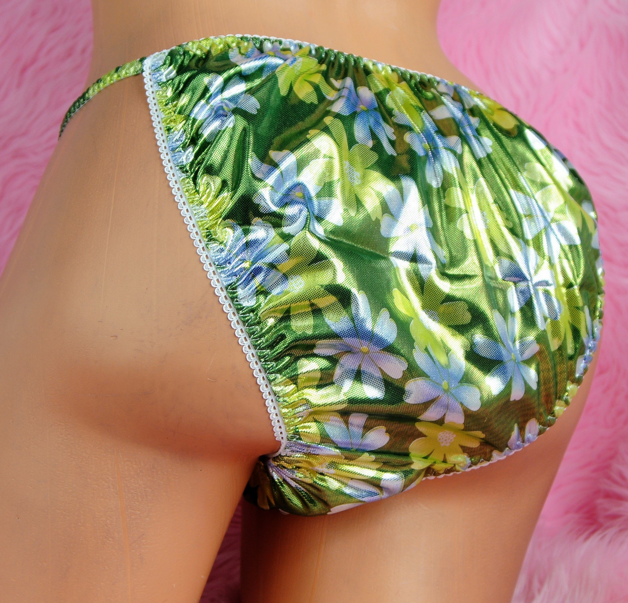Ultra Rare Limited Edition MANties Out of stock fabrics mens foil string bikini panties L/XL