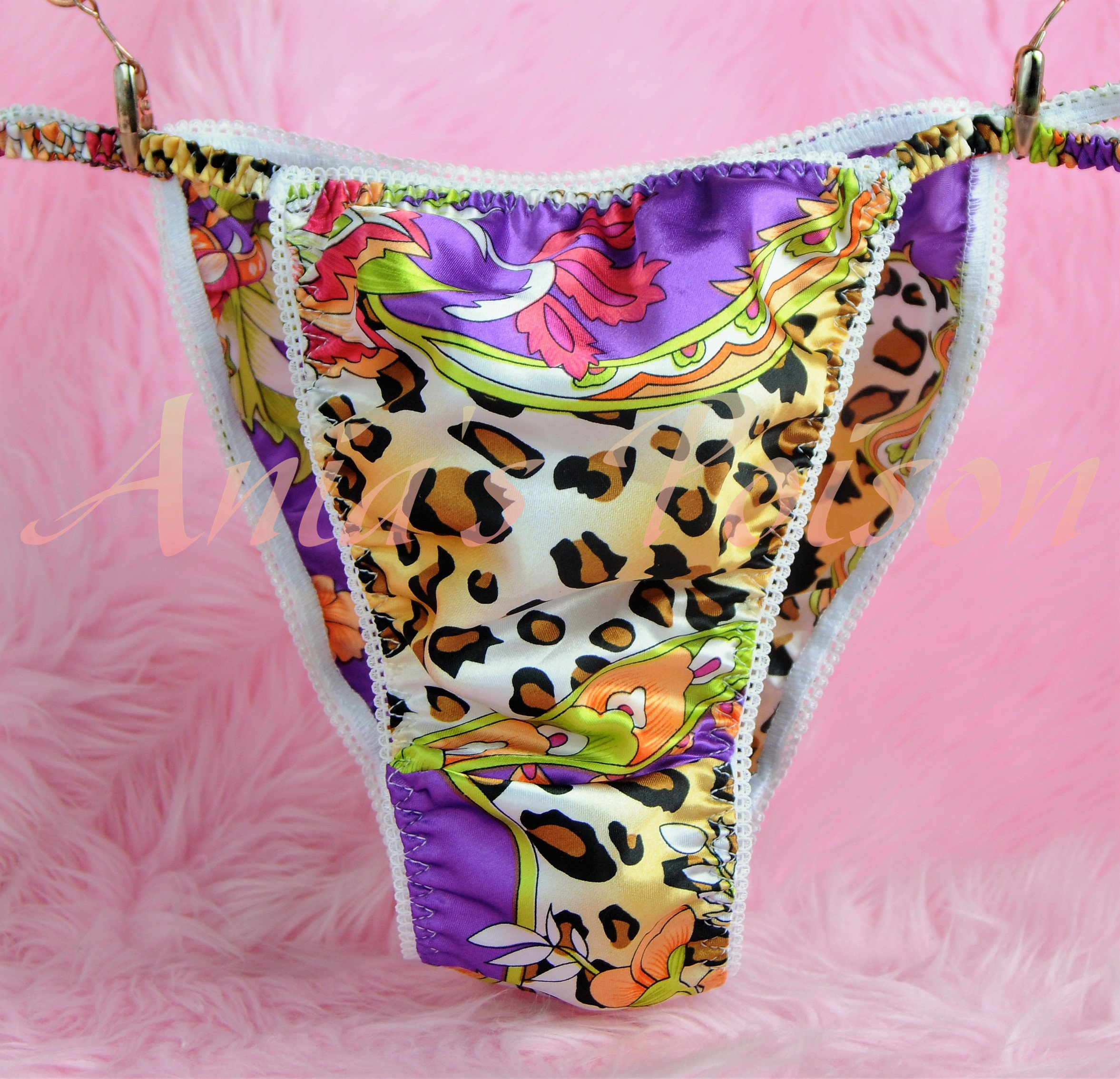 Ania's Poison MANties S - XXL Floral Leopard Animal Prints Super Rare 100% polyester string bikini sissy mens underwear panties