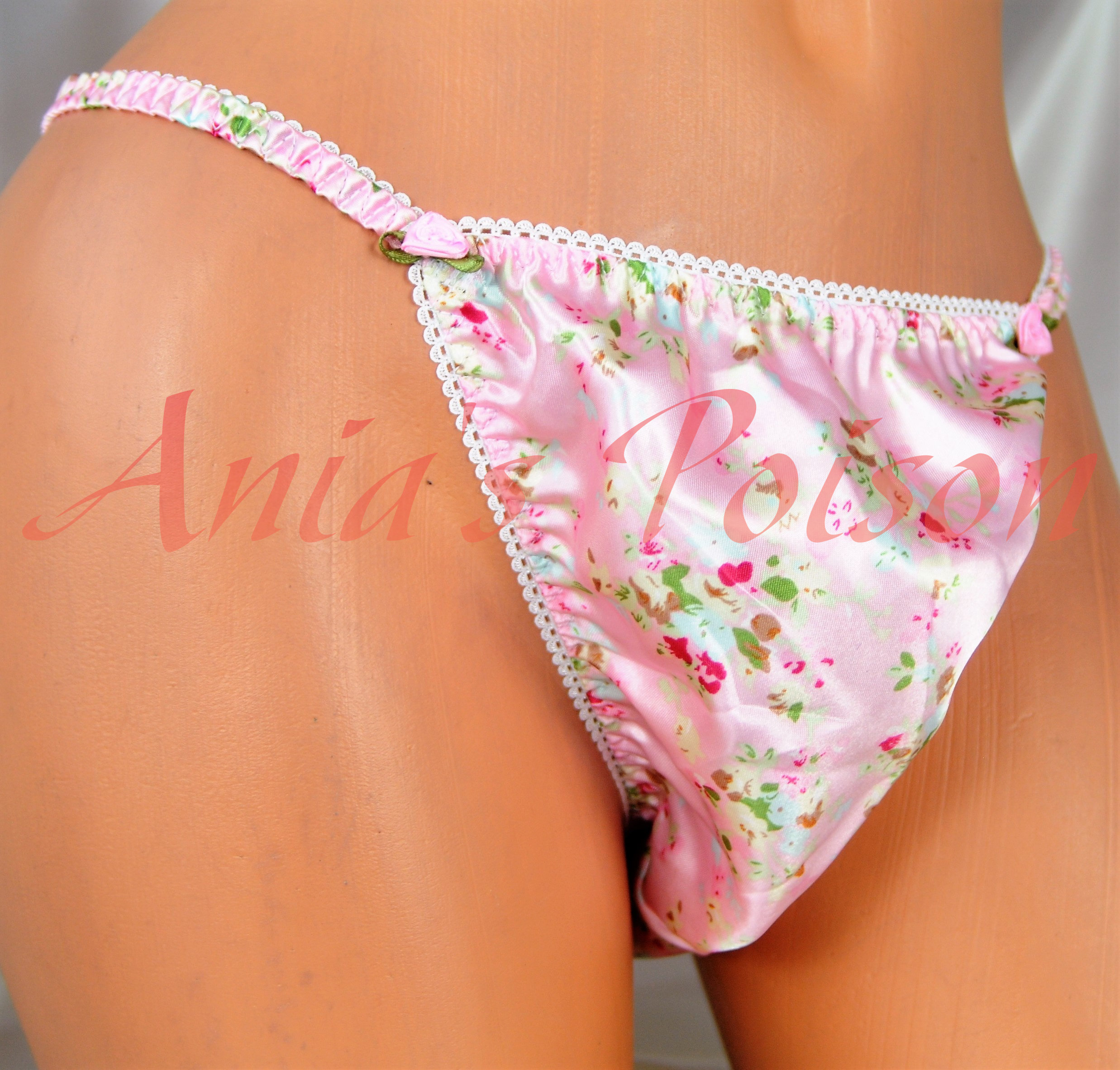 Ania's Poison MANties S - XXL Floral Easter Novelty Prints Super Rare 100% polyester string bikini sissy mens underwear panties
