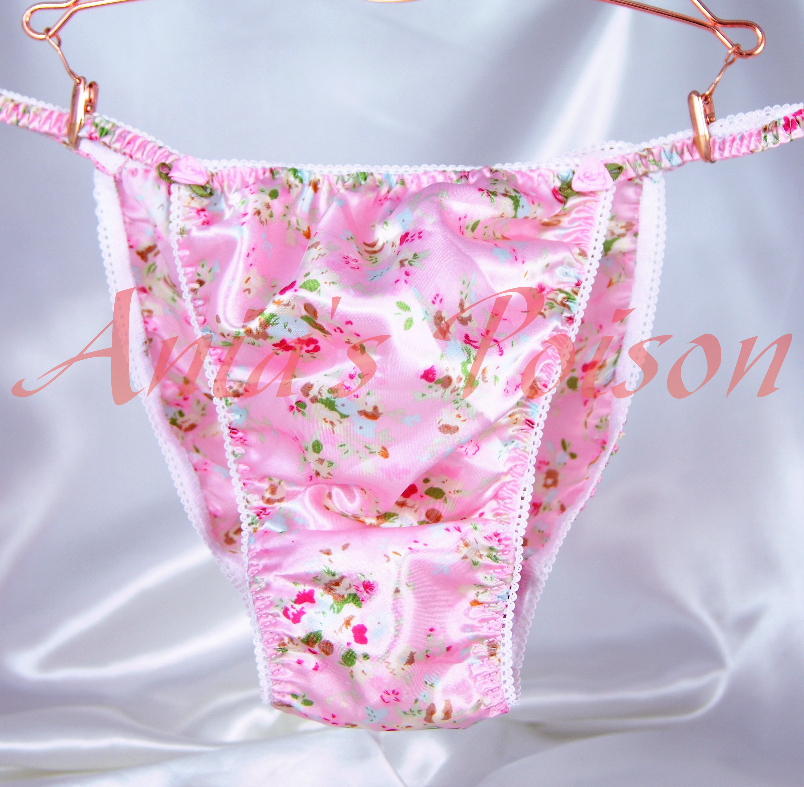 Ania's Poison MANties S - XXL Floral Easter Novelty Prints Super Rare 100% polyester string bikini sissy mens underwear panties 00170