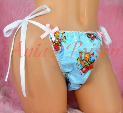 Anias Poison MANties ultra sissy baby bunny fleece tie side limited edition L/ XXL OS mens panties