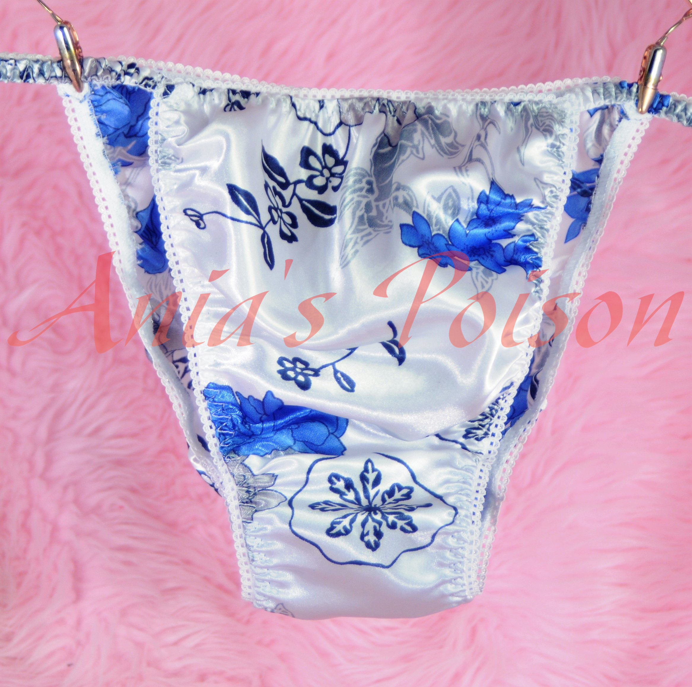 Ania's Poison MANties S - XXL Floral watercolor ladies Prints Super Rare 100% polyester string bikini sissy mens underwear panties 00183