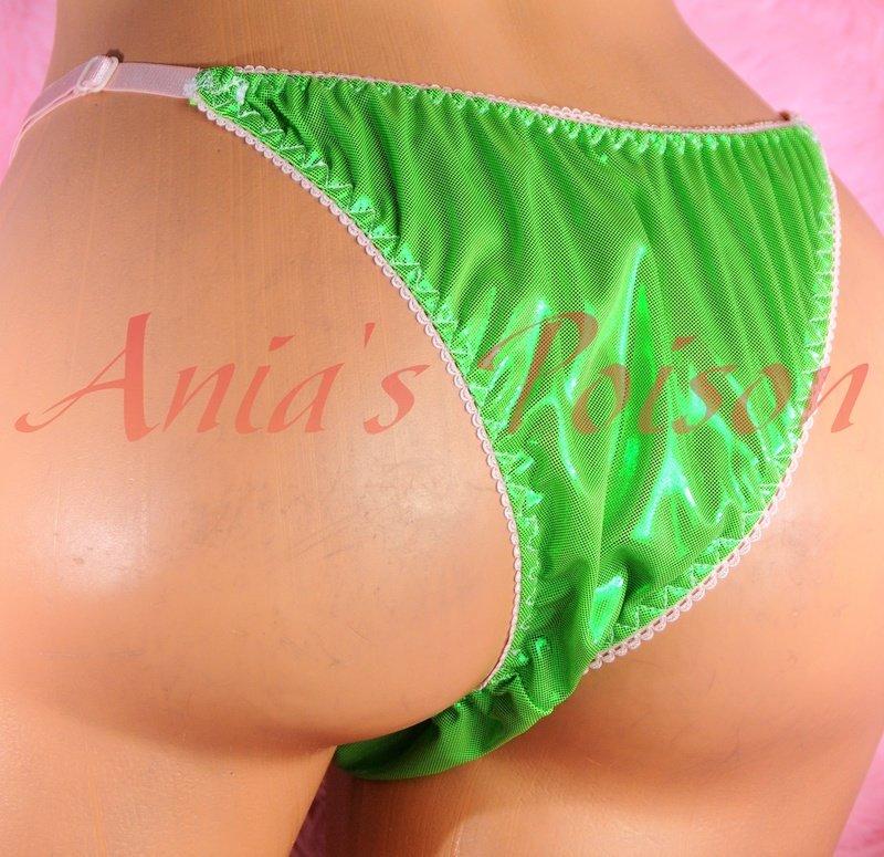 Adjustable Sides metallic shiny FOIL MANties Brazilian Cheeky cut string bikini sissy mens Sissy underwear panties