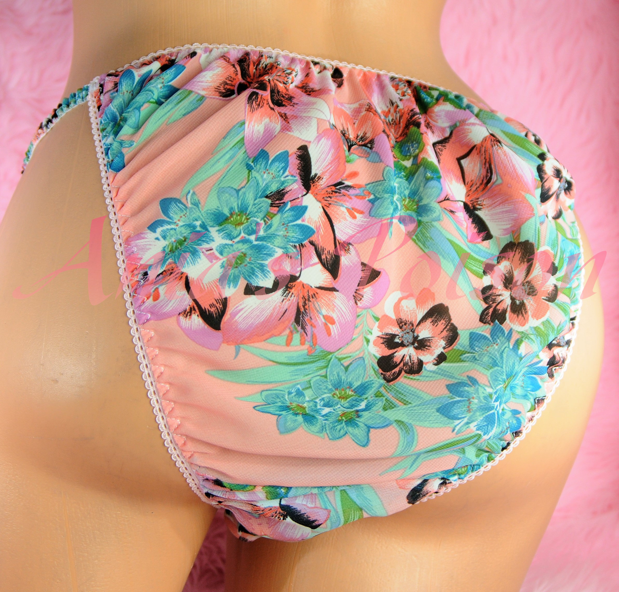 Sheer CHIFFON fabrics collection sissy mens string bikini panties S - XXL