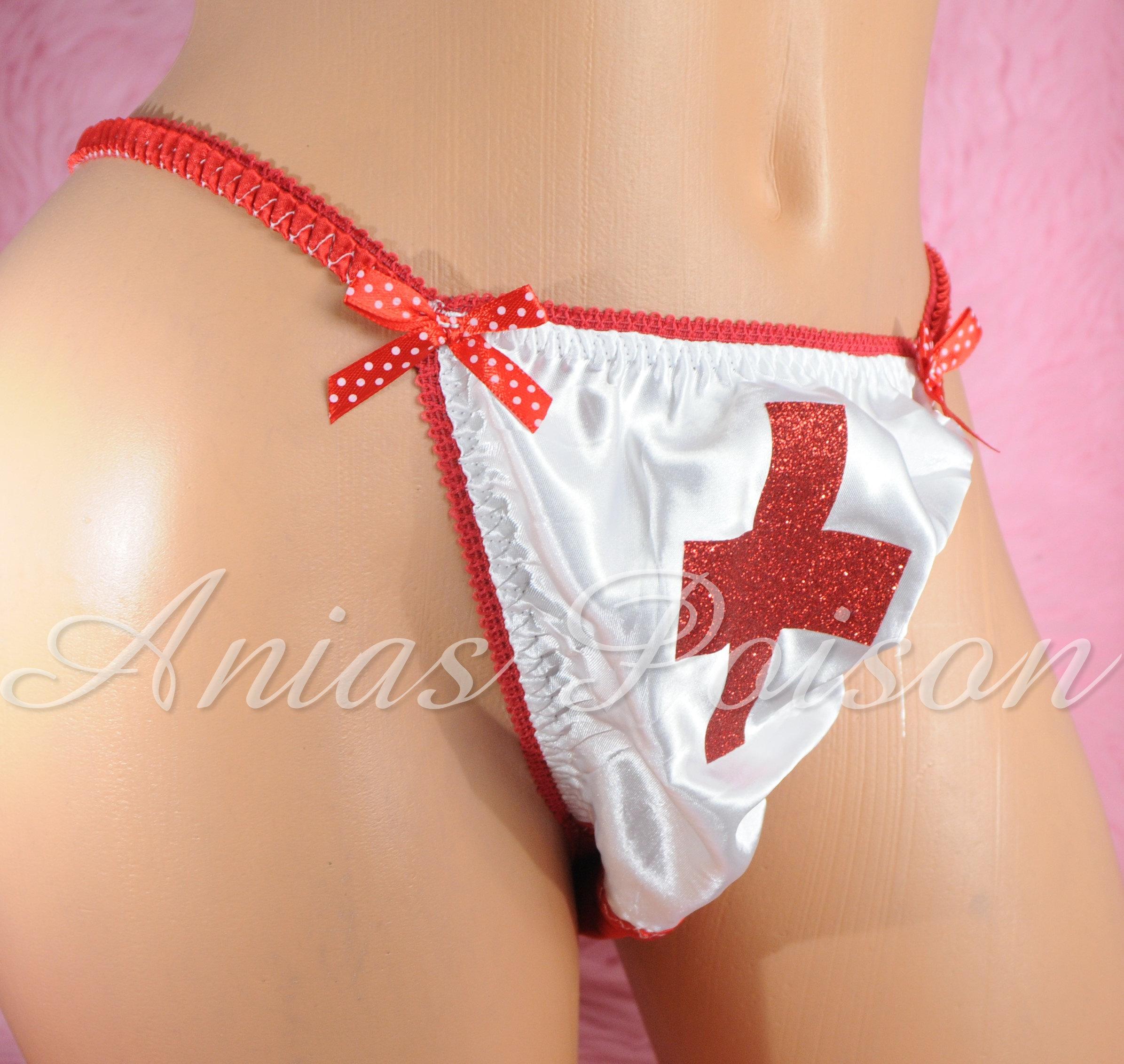 Ania's Poison MANties S - XXL shiny Rare 100% polyester string bikini sissy mens underwear panties