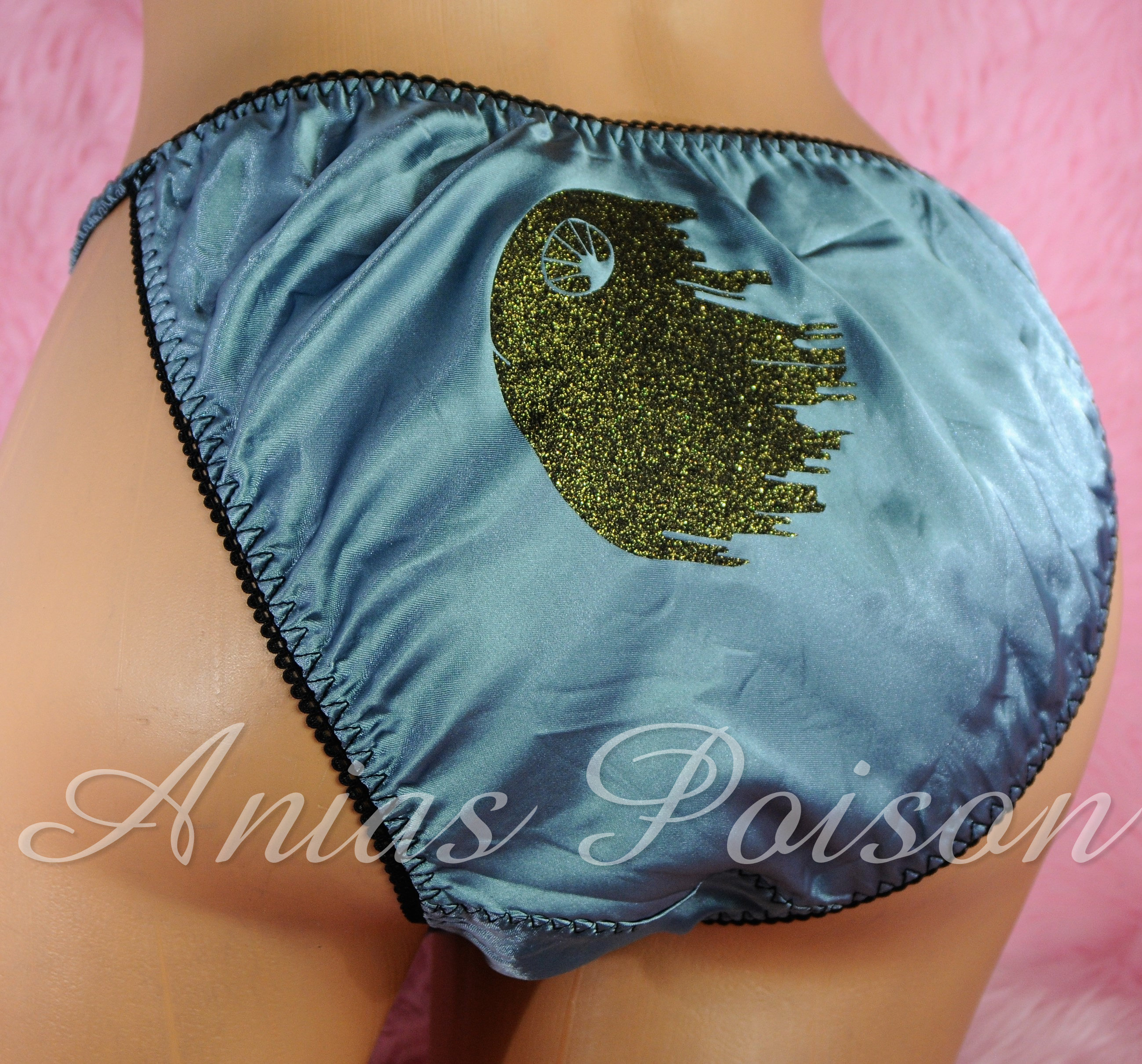 Ania's Poison MANties S - XXL shiny Rare Star OF Death string bikini sissy mens underwear panties