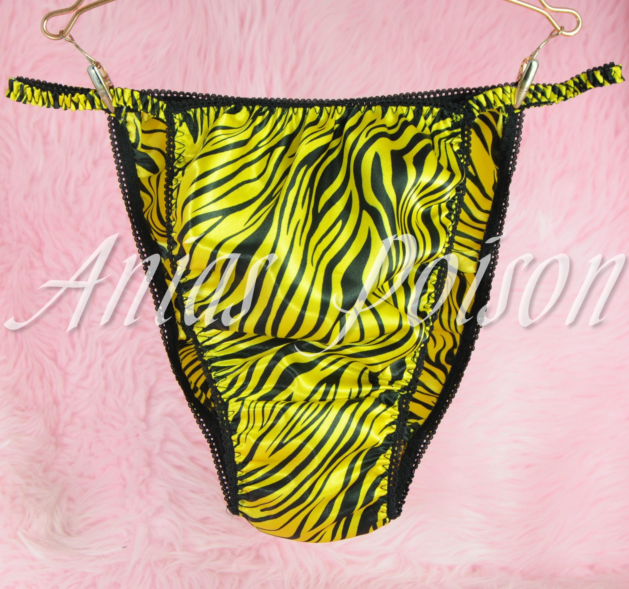 Ania's Poison MANties S - XXL Polka Dot shiny Rare 100% polyester string bikini sissy mens underwear panties 00209