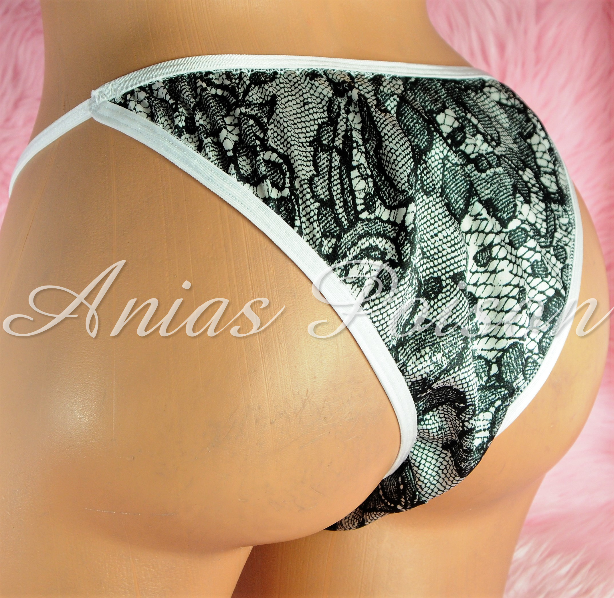 Sissy Mens MANties Lined front satin Brazilian Cut Cheeky Butt pouch panties S M L XL