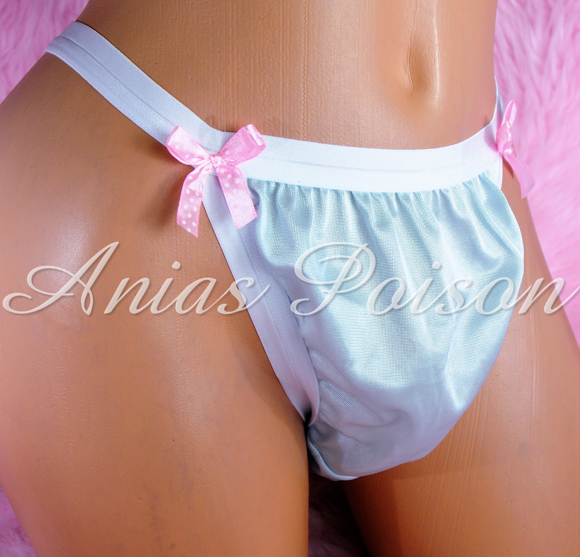 NEW COLORS ADDED!!! Ania's Poison MANties Rare Vintage Style string bikini soft ALL NYLON TRICOT Sissy panties for men S - XXL 00179