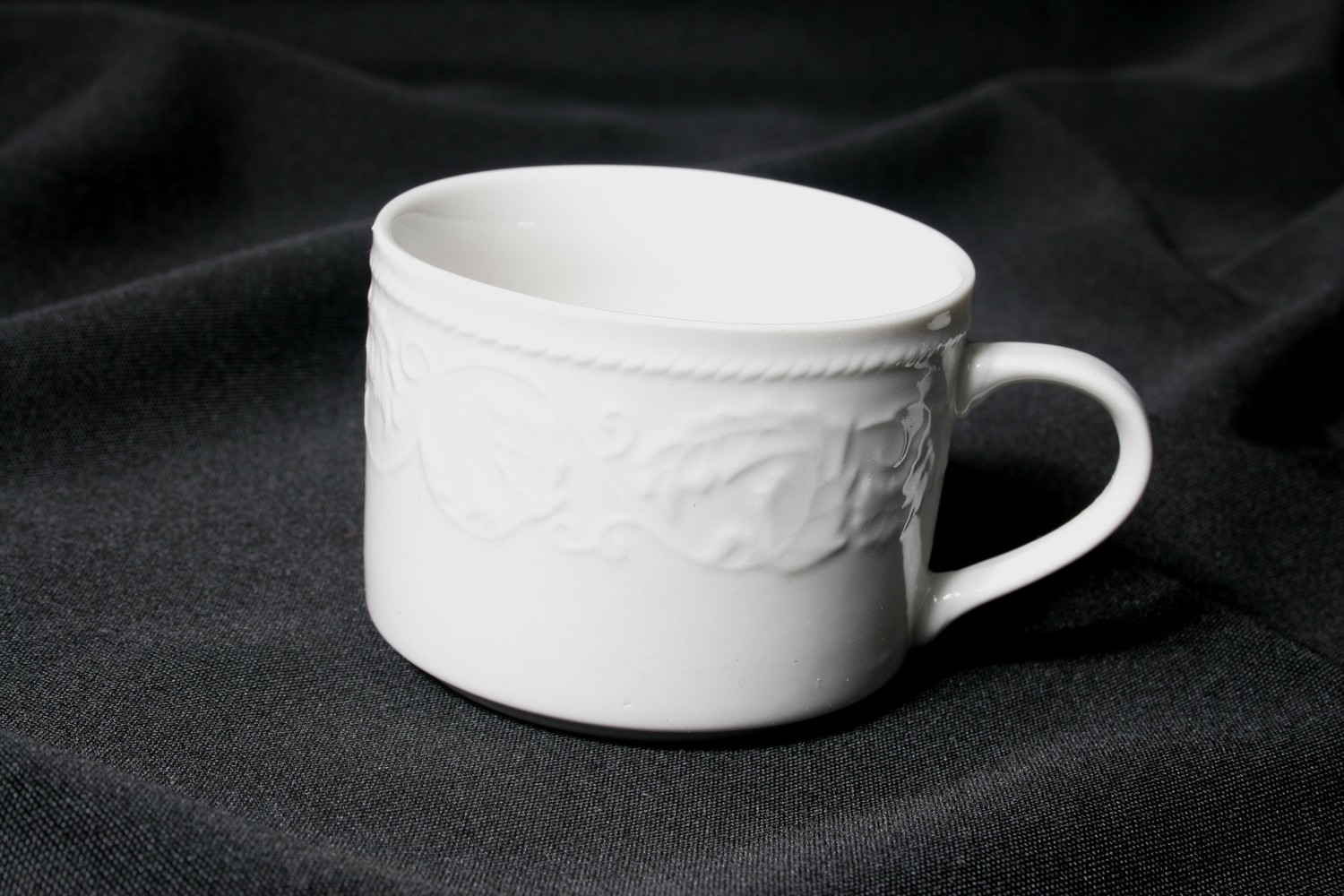 White with Design: Coffee Cup