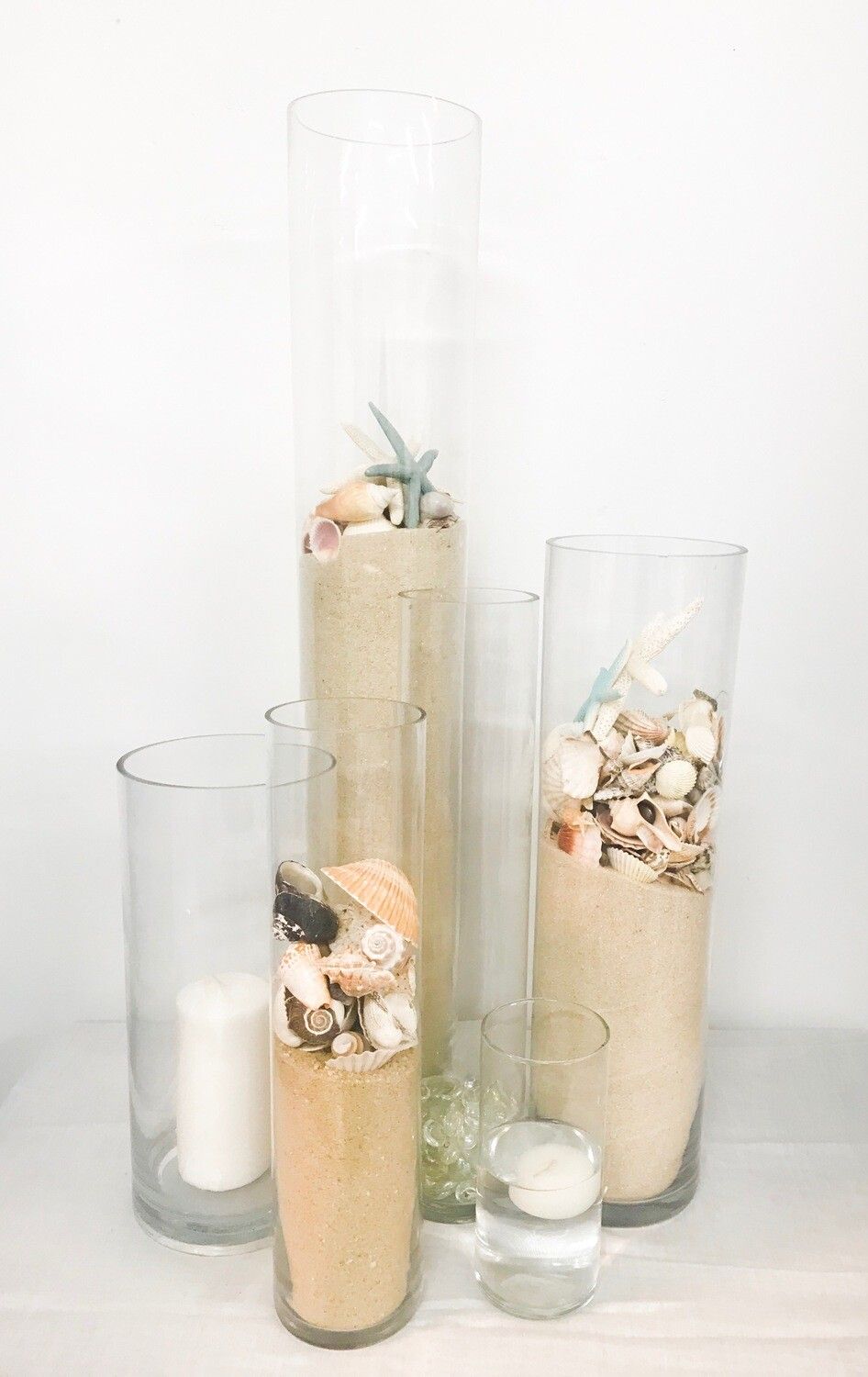 """Cylinder Vase has Wide Opening 14"""" Tall 6"""" Wide"""
