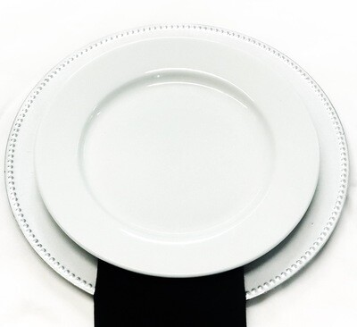 """Plate- 10.5"""" White Solid Dinner Plate"""