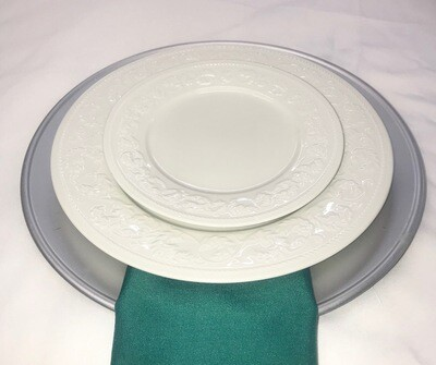 Silver- Plain Charger Plate