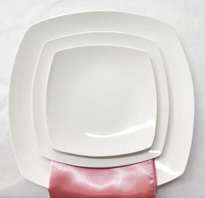 Plate- White Square Dinner