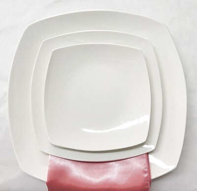 Plate- White Square Saucer