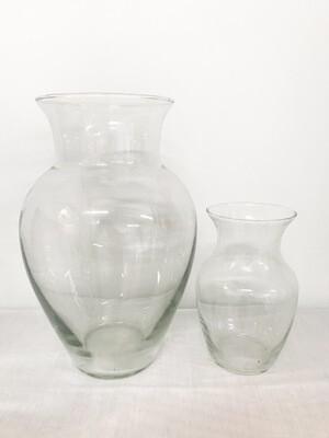 Narrow Neck Round Glass Vase 13